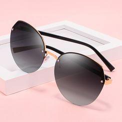 Aisyi - Frameless Round Sunglasses