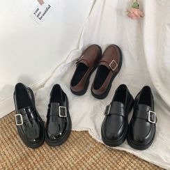 Bolitin - 纯色饰扣乐福鞋