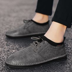 BELLOCK - Faux Leather Lace Up Slip-Ons