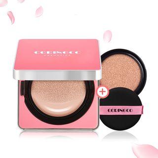 CORINGCO - Cushion Cherry Blossom Water BB FPS 50+ PA+++ con recarga (2 colores)