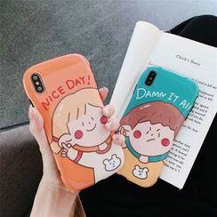Galeon - Boy / Girl Print Mobile Case - iPhone 6 / 6 Plus / 7 / 7 Plus / 8 / 8 Plus / X/ XR / XS / XS MAX
