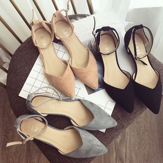 Alisse Ankle Strap Pointed Flats   YesStyle