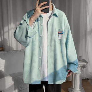 JUN.LEE - Striped Shirt Jacket