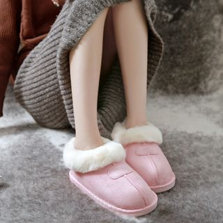 EMERY.V - Couple Matching Fleece Indoor Slip-Ons