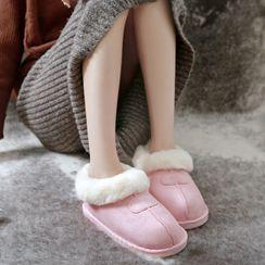 EMERY.V - Couple Matching Fleece Indoor Slip-Ons