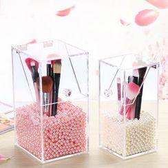 Louree - 亚克力及饰珠化妆刷盒