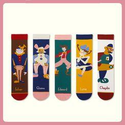 Sockaday - Cartoon Print Tall Socks