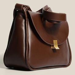 AIDO - Faux Leather Flap Crossbody Bag