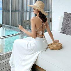 AMOS - Spaghetti Strap Plain Maxi A-Line Beach Dress