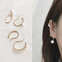 Mimishi - Faux Pearl Cuff Earring (various designs)