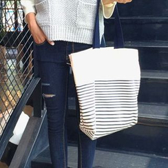 Denyard - Striped Canvas Tote