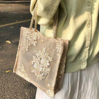 Ikebag - Floral Lace Tote Bag