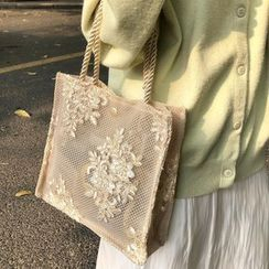 Ikebag(イケバッグ) - Floral Lace Tote Bag