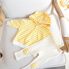 MOM Kiss - Kids Set: Striped Hoodie + Pants
