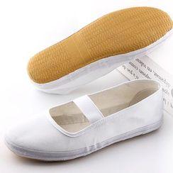 ERHO - 交錯帶帆布平跟鞋