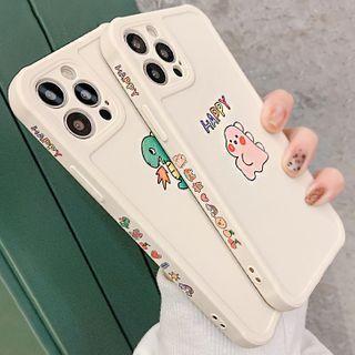 Mobby - Dinosaur Print Phone Case - iPhone 12 Pro Max / 12 Pro / 12 / 12 mini / 11 Pro Max / 11 Pro / 11 / SE / XS Max / XS / XR / X / SE 2 / 8 / 8 Plus / 7 / 7 Plus