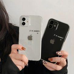 Ruggal - Lettering Transparent Phone Case - iPhone 12 Pro Max / 12 Pro / 12 / 12 mini / 11 Pro Max / 11 Pro / 11 / SE / XS Max / XS / XR / X / SE 2 / 8 / 8 Plus / 7 / 7 Plus