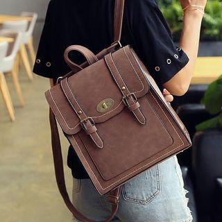 della renna - Square Faux-Leather Backpack