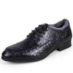 WeWolf - Genuine Leather Croc-Grain Oxfords