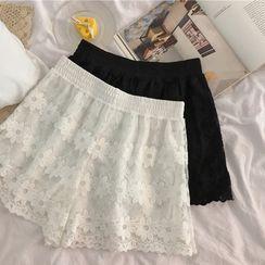 Sapius - Lace Boy Shorts