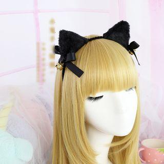 Elfis - Haarreif mit Katzenohren / Haarspange mit Schleife / Brosche mit Schleife