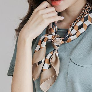 JUSTONE - Patterned Square Scarf