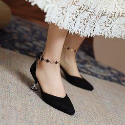佳美 - 踝带尖头细跟凉鞋