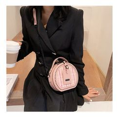 Nautilus Bags - Tweed Round Crossbody Bag