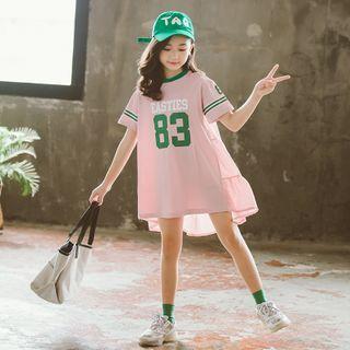 Cuckoo - Kids Lettering Short-Sleeve Mini T-Shirt Dress