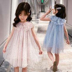 Qin Qin - Kids Sleeveless Sequined Mesh Dress