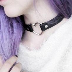 Pouffle - 心心 / 圈環貼脖項鏈