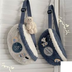 Anchara - Embroidered Fleece Sling Bag