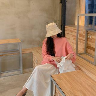 CHERRYKOKO - Letter Print Cotton Sweatshirt