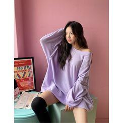 chuu - Extra Oversize Color Sweatshirt