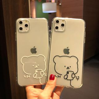 Huella - Bear-Print Phone Case For iPhone 7 / 7 Plus / 8 / 8 Plus / X / XS / XR / XS Max / 11 / 11 Pro / 11 Pro Max