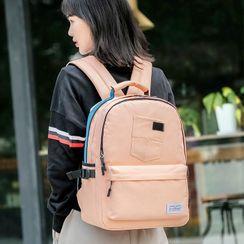 Bag Hub(バッグハブ) - Striped Zip Backpack