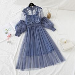 NINETTE - Tiered Lace Party Maxi Dress