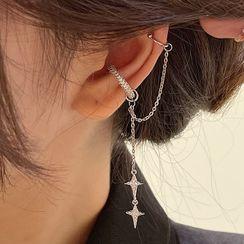 True Glam - 星星链条耳挂