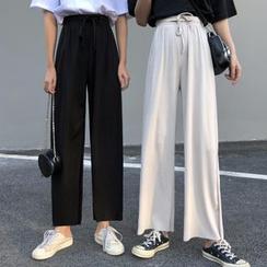 Shopherd - Drawstring Wide-Leg Pants
