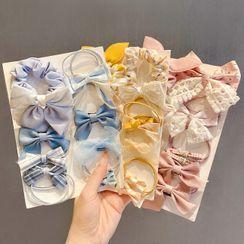 Oohlala! - Set of 8: Fabric Hair Tie (various designs)