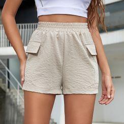 Satinoah - High-Waist Shorts