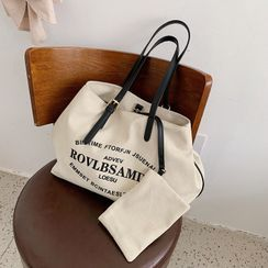 KOCORE - Lettering Canvas Tote Bag