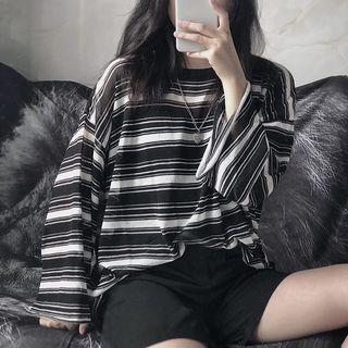 Giuliana - 条纹宽松长袖T裇