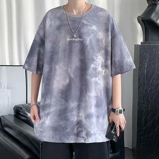 Oakjam - Short-Sleeve Lettering T-Shirt