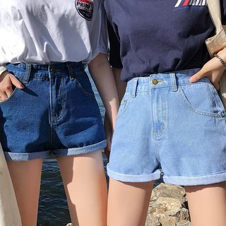 Tiny Times - Roll-Up Denim Shorts
