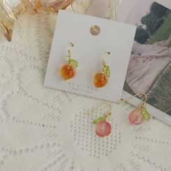 OHARA - Peach Acrylic Dangle Earring