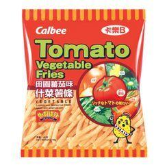 Calbee - Papas Fritas Vegetales con Sabor a Tomate 42g