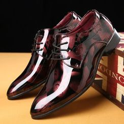 Taragan(タラガン) - Floral Lace-Up Derby Shoes
