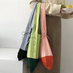 Geolte - Color Block Knit Tote Bag