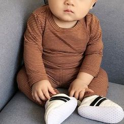 MOM Kiss - 婴儿套装: 长袖T裇 + 长裤